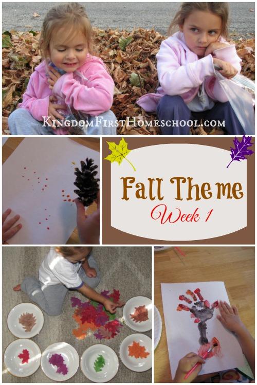 Fall theme Week 1