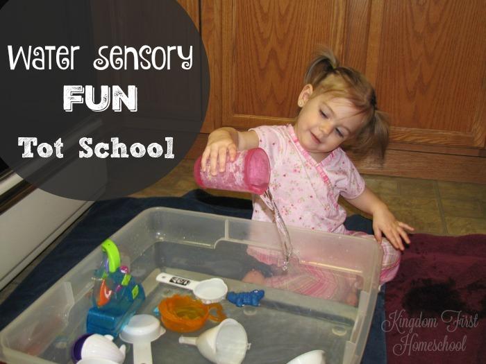 Tot School | Water Sensory Fun | 21 months