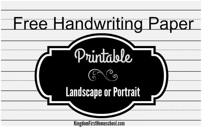 Free Handwriting Paper Printable
