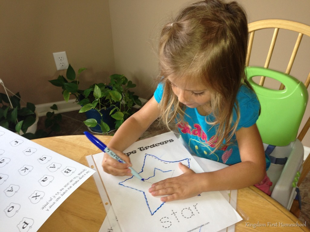 Preschool Shape Tracers