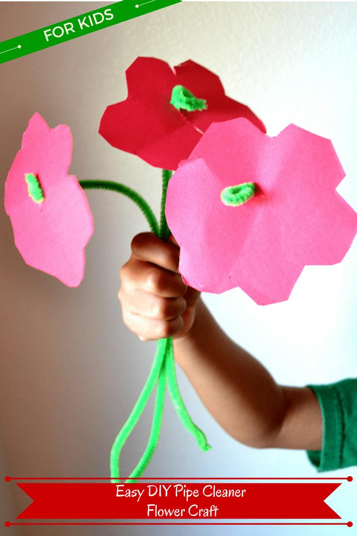DIY Pipe Cleaner Flower Craft