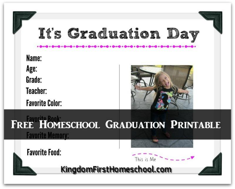 Free Homeschool Graduation Printable