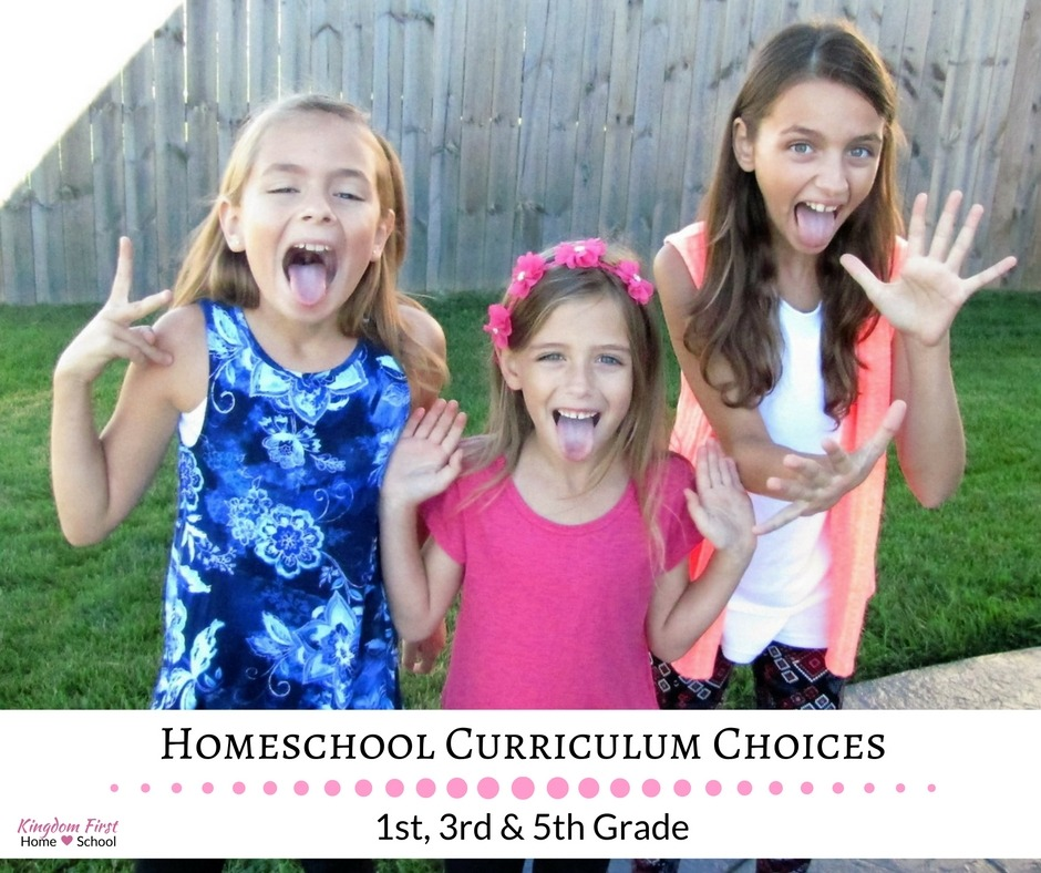 Homeschool Curriculum Choices for 1st, 3rd & 5th Grade