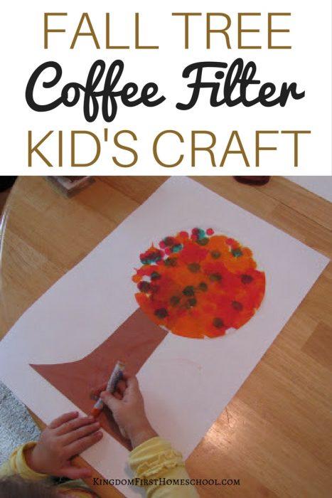 Fall Tree Coffee Filter Craft