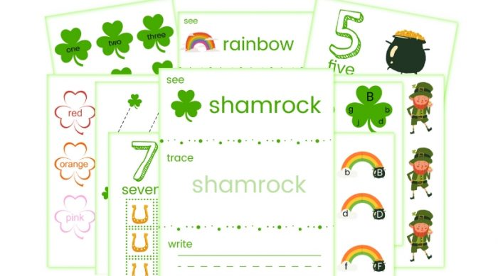 Free Saint Patrick's Day Preschool Pack